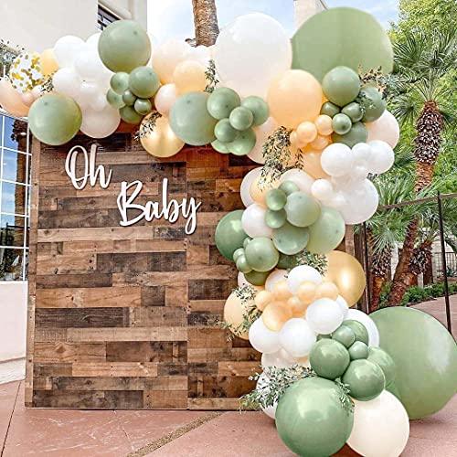 Bellatoi Girlande Luftballons Girlande Set,105 Stück Retro Grüne Aprikose Party Decoration,Luftballons Hochzeit für Party Geburtstag,Baby Shower,Hochzeit Dekorationen