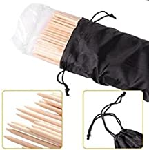 Long Marshmallow Roasting Bamboo Sticks   Campfire Skewers - 110 pcs. 36 inch Long, 5mm Thick Wooden Skewers, inc. Cloth Bag for Easy Storage