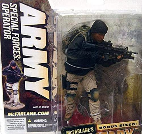 McFarlane 7 Inch Action Figure Military Series 5 Toy - Army Special Forces   Operator with Face Mask Masked Alternate Variant Weiß Caucasian by McFarlane (English Manual)