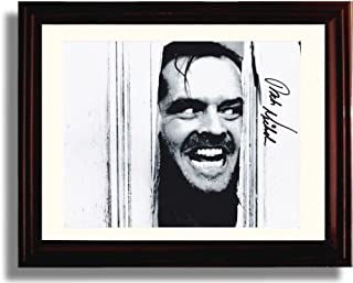 Framed Jack Nicholson Autograph Replica Print - The Shining