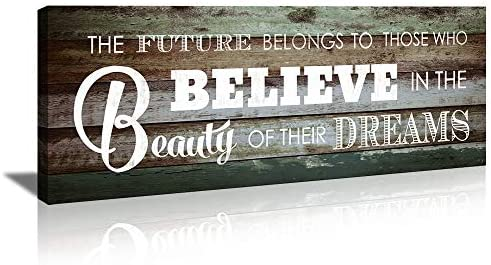 KuyiArt Home Office D cor Modern Canvas Wall Art Inspiration Motto Believe in The Beauty of product image