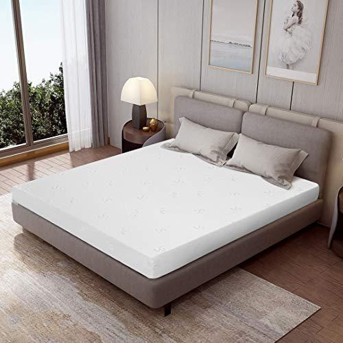 Kono AquaFlex, materasso in schiuma fredda, 18 cm, durezza H2/H3, 90 x 200 cm, materasso a 7 zone, traspirante, certificato Oeko Tex, bianco