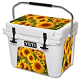 MightySkins (Cooler Not Included) Skin Compatible with YETI Roadie 20 qt Cooler wrap Cover Sticker Skins Sunflowers