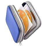 Bivisen CD Case, DVDS Wallet Holder, CD/DVD Case Wallet 40 Discs Heavy Duty Bag Binder Storage Booklet Album (Blue)