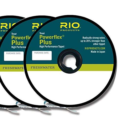 Rio Fly Fishing Tippet Power Flex-Plus Tippet 3 Pack 4X-6X Fishing...