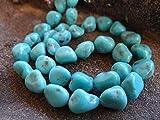 world beads - GEMS-WORLD Beads Gemstone RESTOCKED & Last Chance Genuine Robin's Egg Blue Arizona Kingman Turquoise   Smooth Nuggets   10x7-12x9mm   Sets of 5