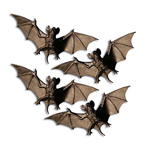 NET TOYS Fledermäuse als Halloween Deko Dekoration Halloweendekoration Halloweendeko Fledermaus Gruseldeko