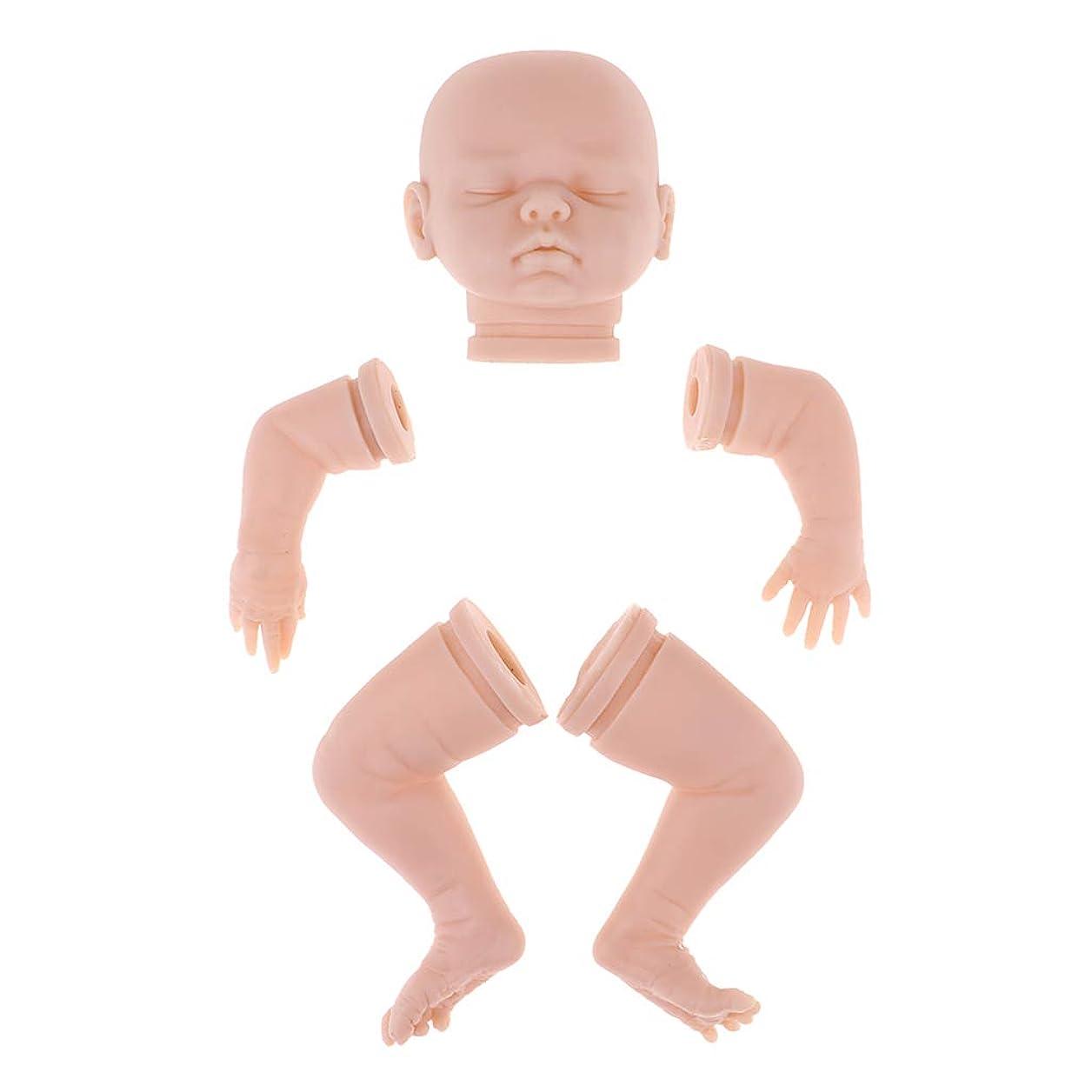 プログレッシブ朝食を食べる治すドール人形パーツ 頭部 腕 足 リボーン新生児ドール用 DIYアクセサリー 3色選択 - #3