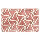 Non Slip Bath Mat for Bathroom, Shaggy Pink Rug (31.5 x 19.7 in)