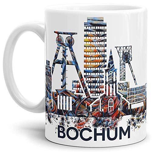 Tassendruck Bochum-Tasse Skyline - Kaffeetasse/Mug/Cup - Qualität Made in Germany