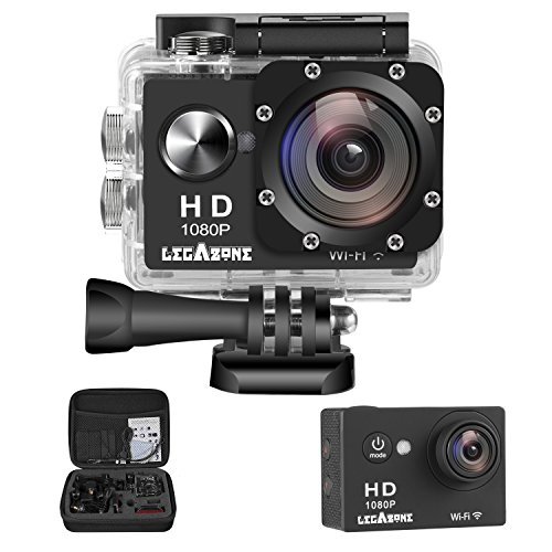 Legazone WIFI 2.0'' 12MP HD 1080P 170Wide Sports Camera Action DV + Shockproof Carrying Bag...