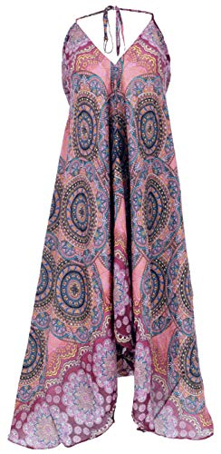Guru-Shop, Boho Zomerjurk, Magische Jurk, Maxi-jurk, Nackholder Strandjurk, Zwart, Synthetisch, Size:14, Lange Midi-jurken