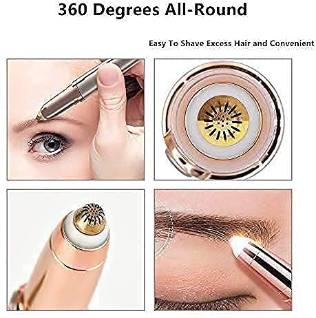 FEWZY Electric Pencil Beauty Styler Hair Nose Trimmer and Portable Eyebrow Threading Shaver Hair Remover Trim for Women