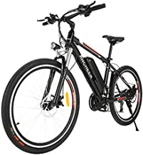 ANCHEER 2019 Pro Electric Mountain Bike, 26'' Electric Bicycle with Removable 12.5AH Lithium-Ion Battery for Adults, 500W Hub Motor and 21 Speed Shifter