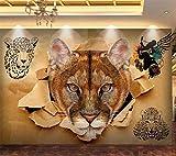 QHDHGR Fotomural para Paredes Animales y leones Decoración de Pared Murales Hd Moderno Impresión Del Arte Oficina Tv De Fondo Fotomurales 200 x 175cm(anchura x altura)