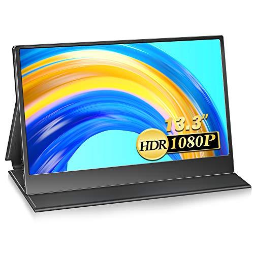 モバイルモニター 13.3インチ タッチパネル 1920x1080FHD スイッチ用モニター USB Tpye-C/mini HDMI/PS4 XB...