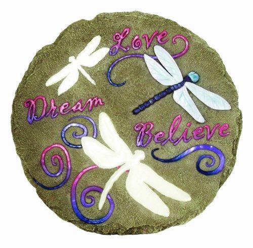 Spoontiques - Decoração de jardim – Pedra de escalar libélulas – Pedra decorativa para jardim