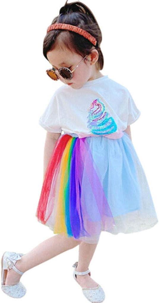 Mousmile Toddler Girls Tutu Skirt Pleated Albuquerque Mall Tulle Set Ski Ranking TOP4 Rainbows