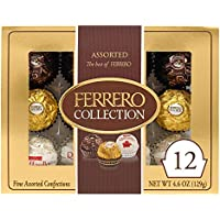 12-Count Ferrero Rocher Collection Assorted Chocolates Variety Pack, 4.6oz