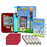 MEGA VALUE PetTest PAINLESS Blood Glucose Monitoring System for Dogs and Cats with Diabetes – Welcome to the NEXT GENERATION in PAINLESS DIABETIC GLUCOSE TESTING