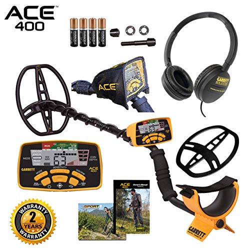 Garrett Ace 400 Metal Detector with Waterproof Coil and Headphone Plus Accessories