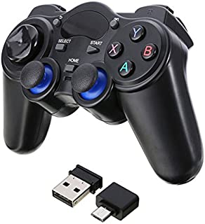 Accreate Protable 2.4G Wireless Gaming Controller Gamepad for Android Tablets PC TV Box Micro USB