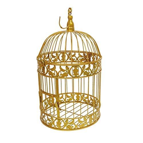 GJNVBDZSF Jaulas de pájaros Decorativas Antiguas Grandes de la Manera Jaula de pájaros clásica Hecha a Mano del Hierro para la decoración de la Boda