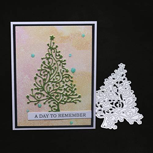 hgfcdd Weihnachtsbaum Metall Stanzformen Schablone DIY Scrapbooking Album Stempel Papier Karte Präge Decor Craft