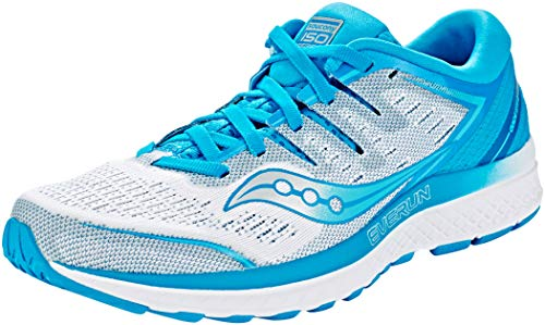 Saucony Womens Guide ISO 2 Trainers Walking Running Shoes Blue 5 Medium (B,M)