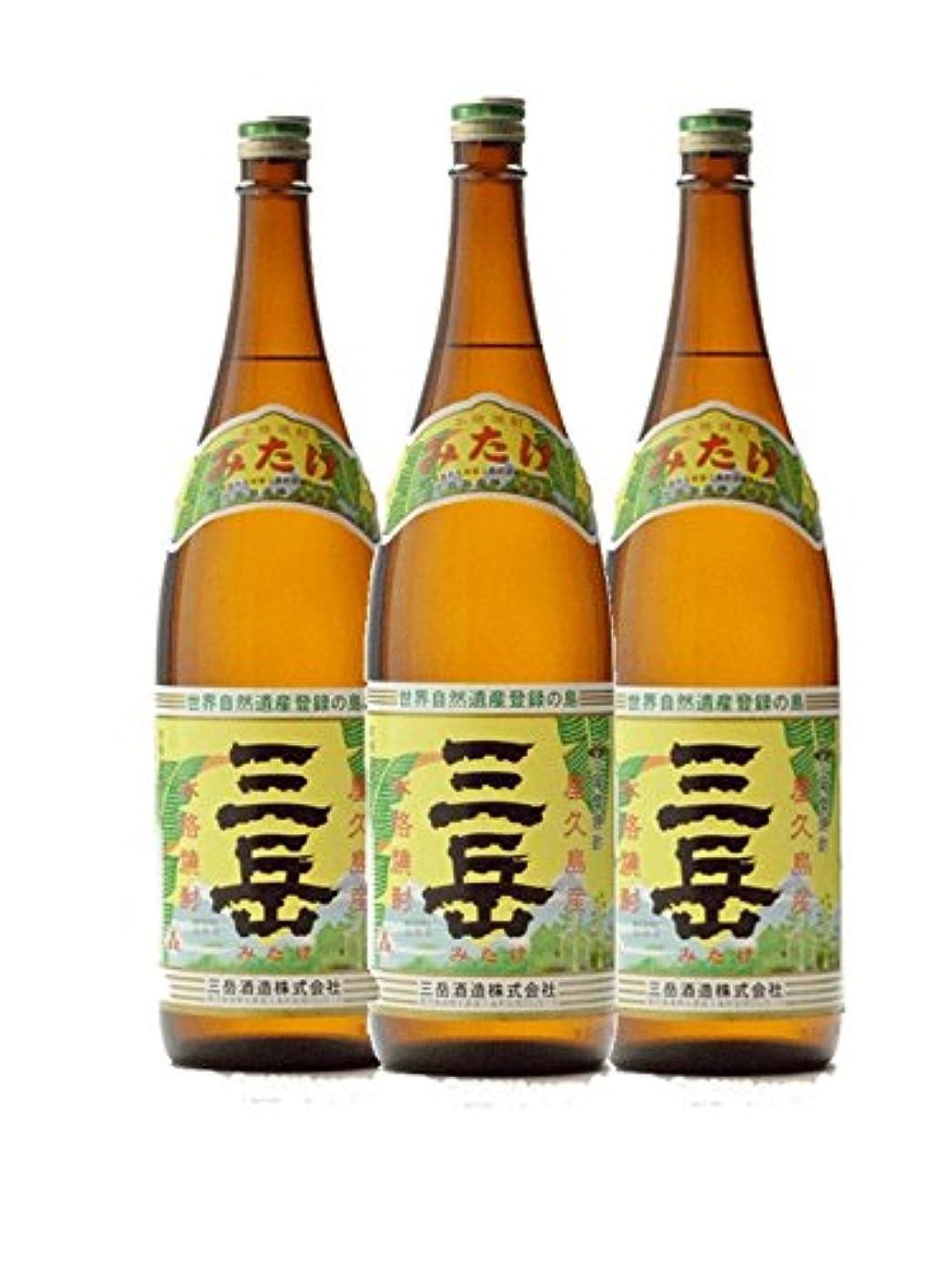 補償比率使用法三岳1800ml 3本セット 屋久島 25度 芋焼酎 三岳酒造