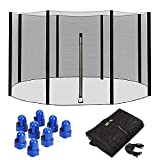 Massage-AED Trampoline Replacement Net Enclosure Surround Netting 6ft 8ft 10ft 12ft 14ft for 6/8 Poled Trampolines,Tear Resistance | UV Protection