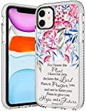 iPhone 11 Case,Women Girls Flowers Bible Verse Quotes Jeremiah 29:11 Inspirational Christian Clear Soft Rubber TPU Bumper Anti Scratch Protective Clear Case Cover Compatible with iPhone 11 6.1 inch