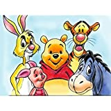 5D Diamond Painting Full Kit, 5D DIY Diamond Painting Kits for Adults Full Drill Painting Rhinestone Embroidery Pictures Cross Stitch Arts Crafts for Home Decor,16'X12',Winnie The Pooh Donald Duck