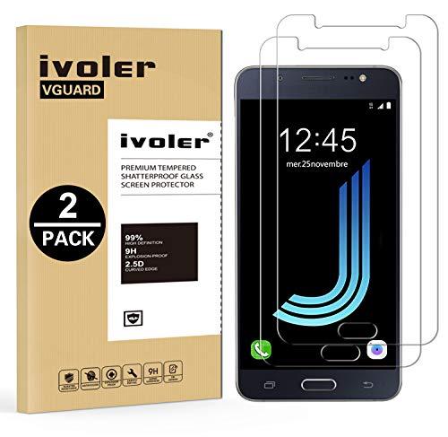 ivoler [2 Pack] Vetro Temperato Compatibile con Samsung Galaxy J5 2016 [Garanzia a Vita], Pellicola Protettiva, Protezione per Schermo