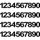 4 Juegos de 40 Pegatinas de Números de Buzón de Vinilo, Pegatinas de Números Negros Impermeables Calcomanías de Números de Vinilo Anti-Decoloración Señales Numéricas Preespaciadas para Coche Hogar