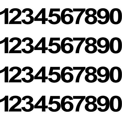 40 Pezzi 4 Set 4 Pollici Adesivi Numero in Vinile di Cassetta Postale, Adesivi Numeri Neri Impermeabili Decalcomanie Numeri in Vinile Anti-Sbiadimento Segni Numerici Pre-Spaziati per Casa