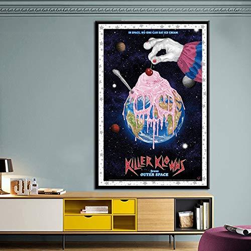 Clown Poster und Print Wandkunst, als vi verwendet-Rahmenlose Malerei80X120cm