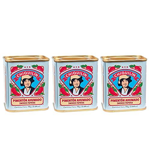 3 boîtes de paprika fumé 75 grammes - Qualité Or Rouge -...
