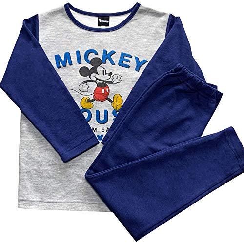 男の子 パジャマ 【ミッキーマウス柄】 ブルー・紺 100・110・120・130cm ダンボールニット ポリエステル70%・綿30% キッズ 子供 子ども 男児 ディズニー Disney gsn_73015(紺・110)