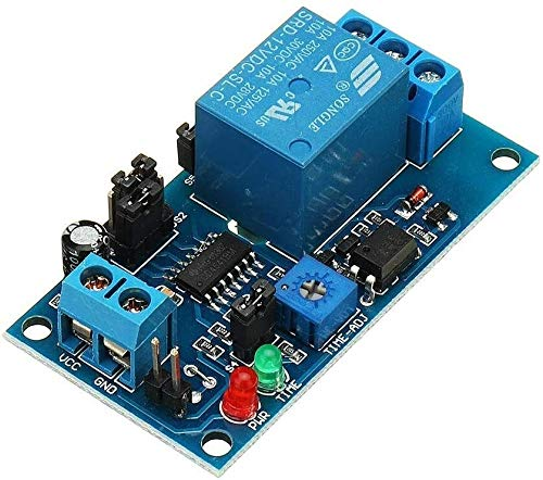 Útil Tablero de vibración del módulo electrónico de retransmisión de retardo de retardo de retardo de Temporizador electrónico de 12V Normalmente abierto para computadora inteligente para el hogar dur