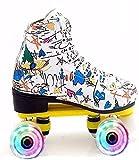 LCNING Patines Roller Skate Kids Quad Roller Skates Patines Ligeros Acogedor para Hombre y Mujer Unisex Adulto para Interiores y Exteriores para Mujeres y Hombres (Color : A1, Size : 9 UK/44 EU)
