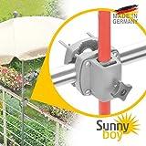 Support parasol balcon à fixer sur la balustrade – Sunnyboy, le petit modèle – socle parasol compact pour petits parasols allant jusqu'à Ø 2m - Made in Germany