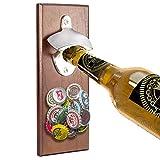 LEcylankEr Abrebotellas de Pared,Abridor Cerveza Retro con Magnetico de tapas de botella,Regalos para padres,amantes,hijos,amigos