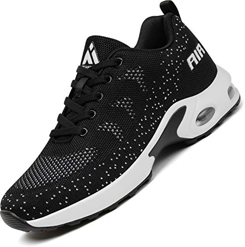Mishansha Air Scarpe da Ginnastica Donna Leggero Scarpa per Sportive Running Femmina Antiscivolo Fitness Sneakers Nero, Gr.39 EU