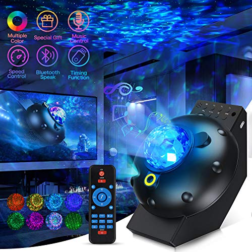 Galaxy Projector Night Light Star Projector Ocean Galaxy Globe Nova Light 3 in 1 with Bluetooth Music Speaker and Remote Control Galaxy 360 Pro Projector for Bedroom Ceiling Game Room Kids Adults Gift