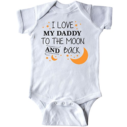 inktastic I Love My Daddy to The Moon and Infant Creeper Newborn White 2962d