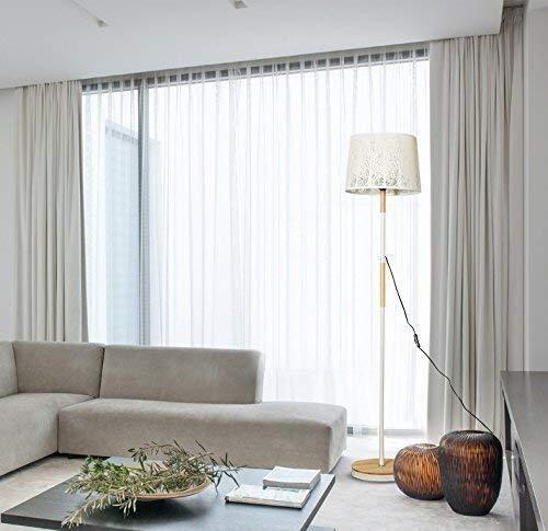 Busirsiz Lámparas de pie, Led personalidad creativa moderna talla Sala Café baja luz del dormitorio lámpara de cabecera de madera Lámpara de pie, Eye-El cuidado de luz vertical