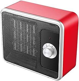 Calentadores Eléctricos Espacio Ventilador Calefactor Ptc Eléctrico Cerámica Calefacción Silencioso Protección Contra Sobrecalentamiento Termostato Ajustable 2 Configuraciones, O&YQ, rojo