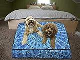 Mandala almohada para cama de perro 88 cm, funda de cojín indio
