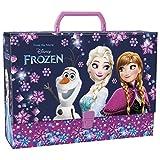Frozen Eiskönigin Mappe Koffer mit Griff Sammelbox Heftebox Zeichenbox Dokumentemappe DIN A4 Mappe Klickverschluss Kinder Schule